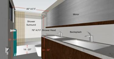 Особенности планирования пространства компактной ванной комнаты