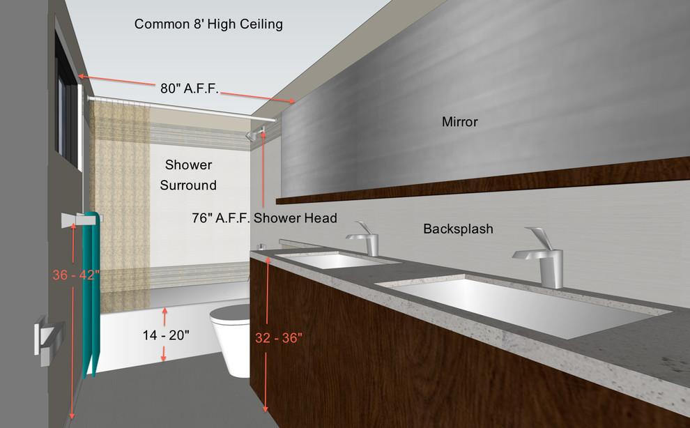 Детальная планировка ванной