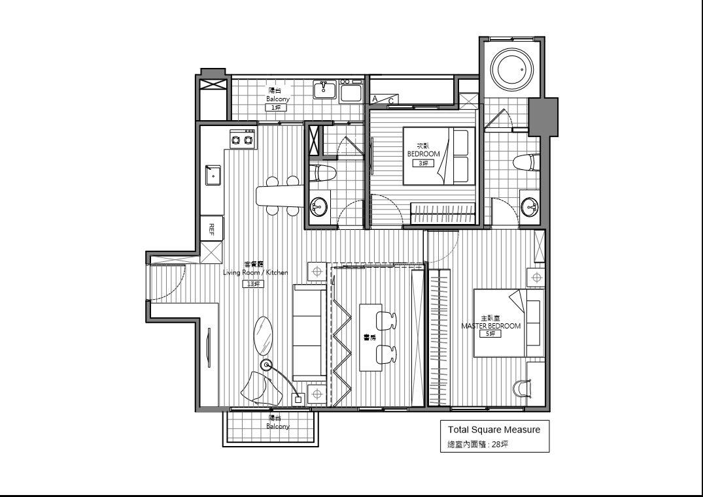 План-схема жилого комплекса Bachelor`s Apartment