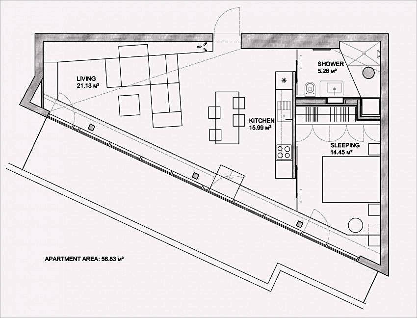План апартаментов после реконструкции