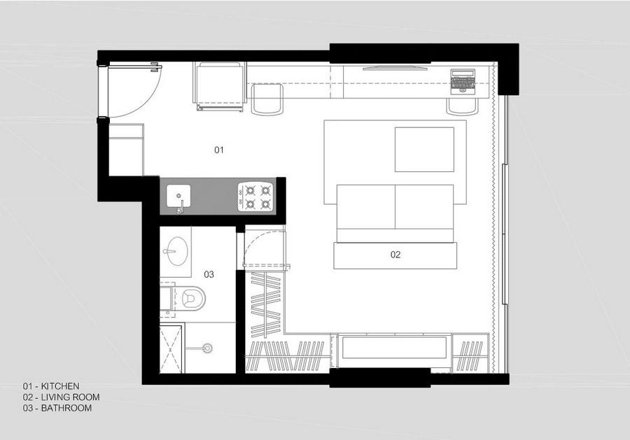 План небольшой квартиры в Бразилии для работы