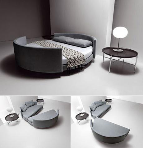 Раскладная круглая кровать