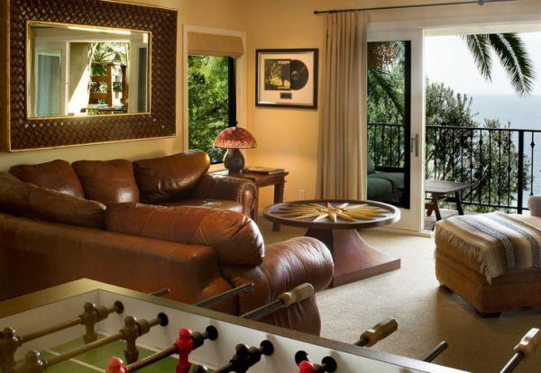 Настольный футбол в гостиной