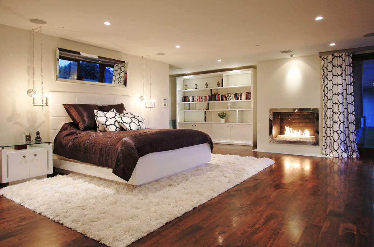 Дизайн интерьера спальни в подвальном помещении