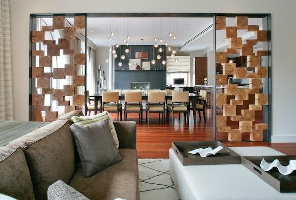 Декоративные перегородки из дерева