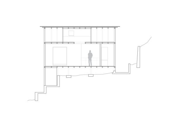 Планировка маленького домика в разрезе
