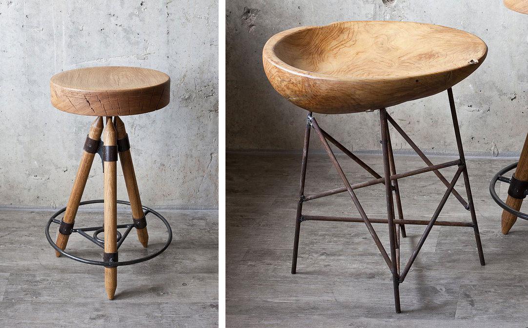 Оригинальные стулья в дизайнерской квартире-студии