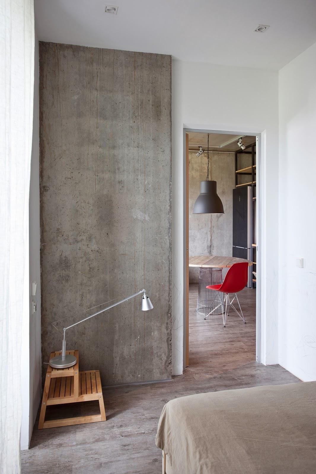 Спальня дизайнерской квартиры-студии в России