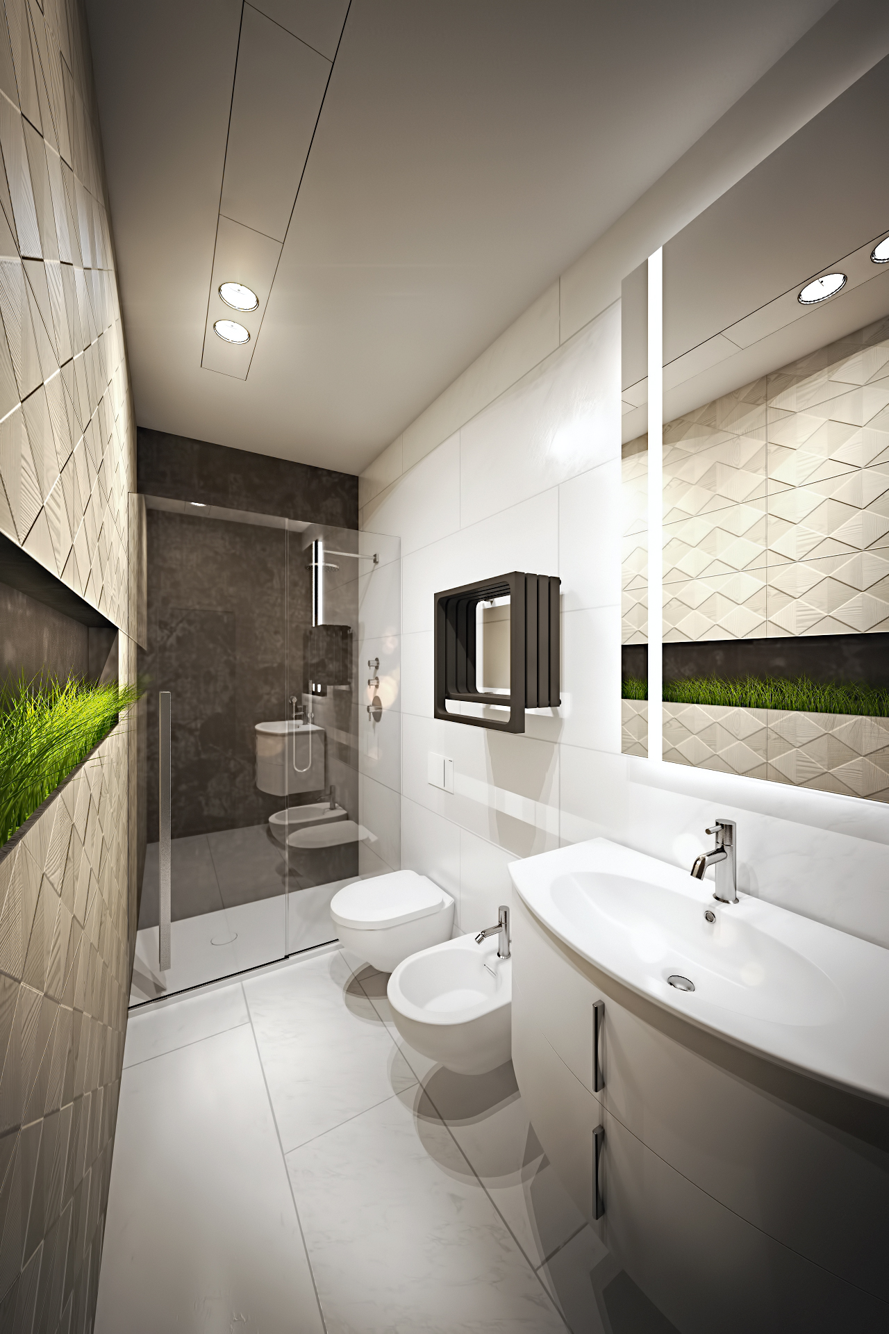 Растения в интерьере ванной