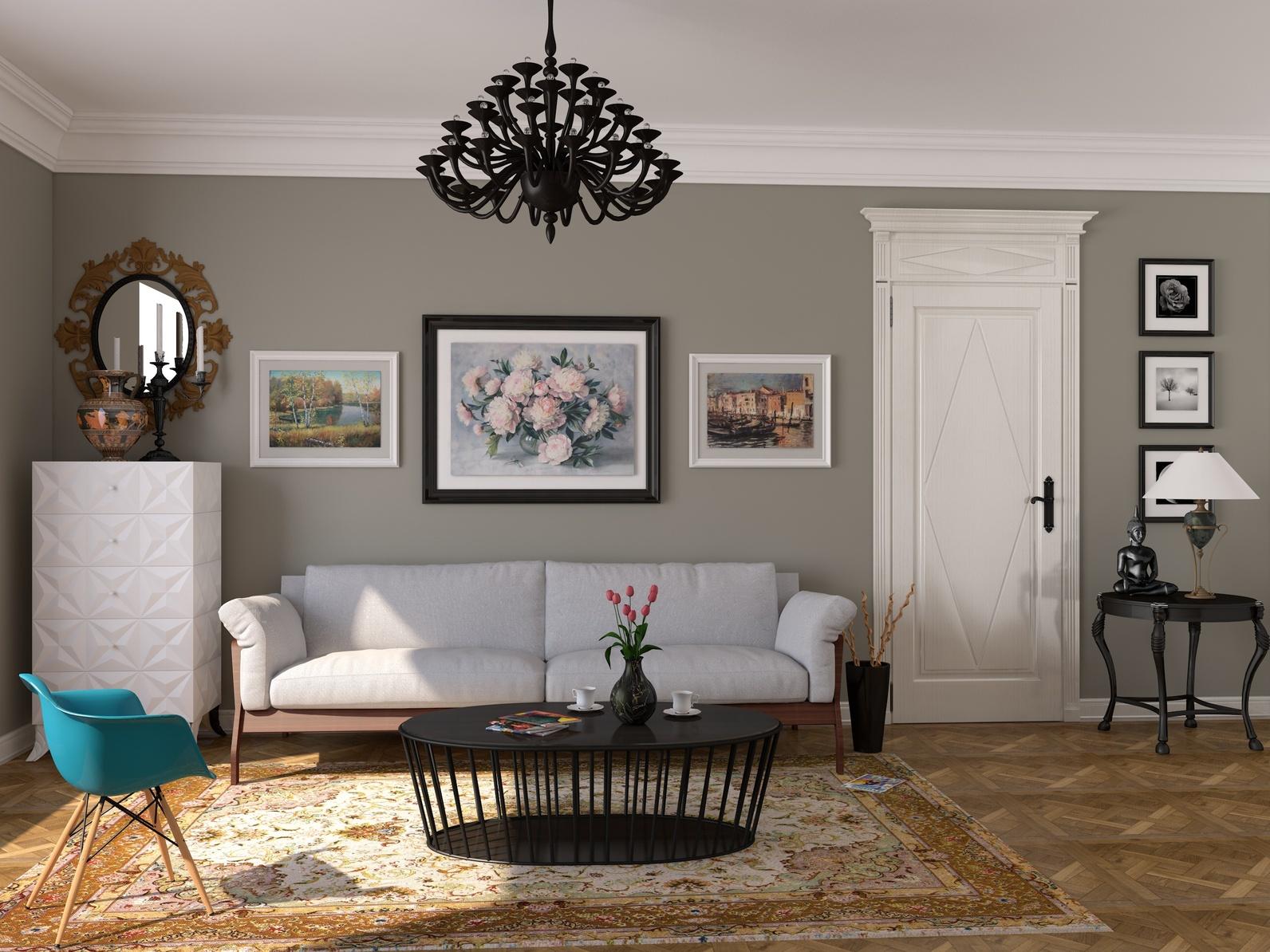 Богемный стиль в гостиной