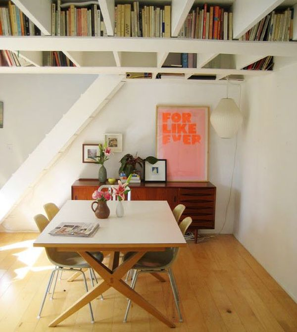 Книги на потолочных балках