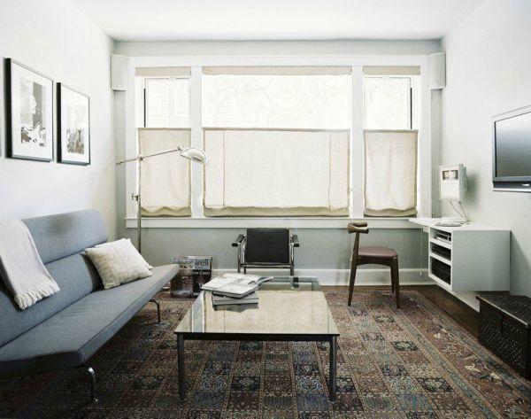 Линейная мебель в гостиной