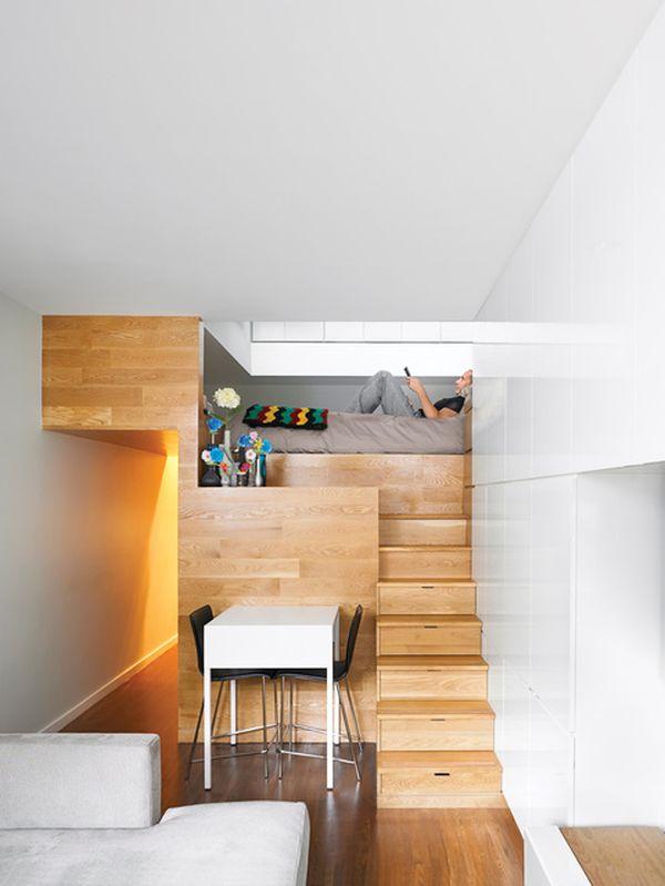 Спальня на лестнице