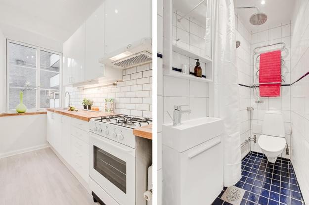 Кухня и ванная в скандинавском стиле