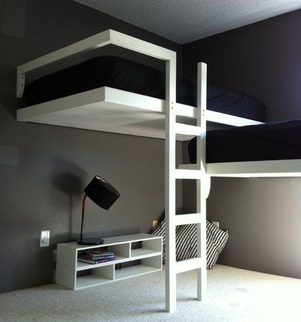 Стильная чёрно-белая спальня