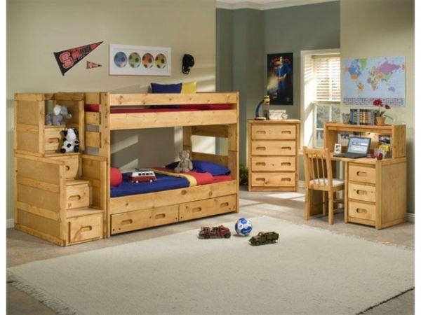 Деревянная мебель в стильной детской