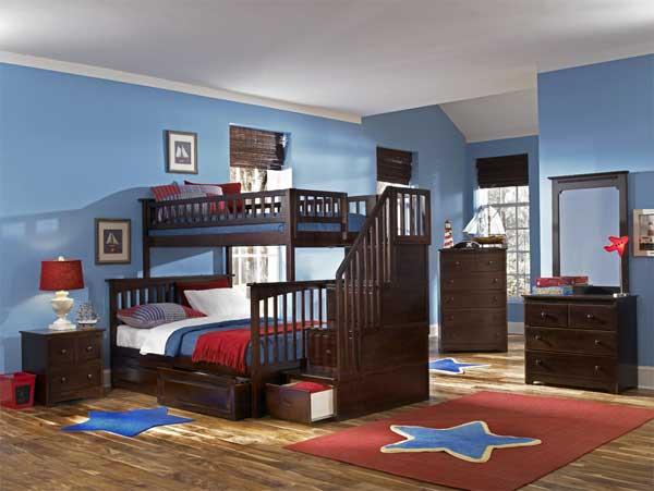 Зонирование детской с помощью мебели