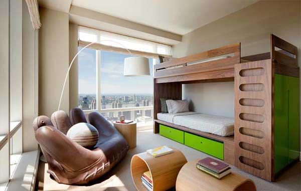 Видовая спальня в спортивном стиле