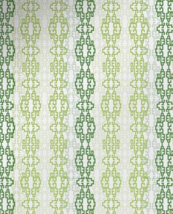 Обои с полосатым орнаментом зелёного цвета