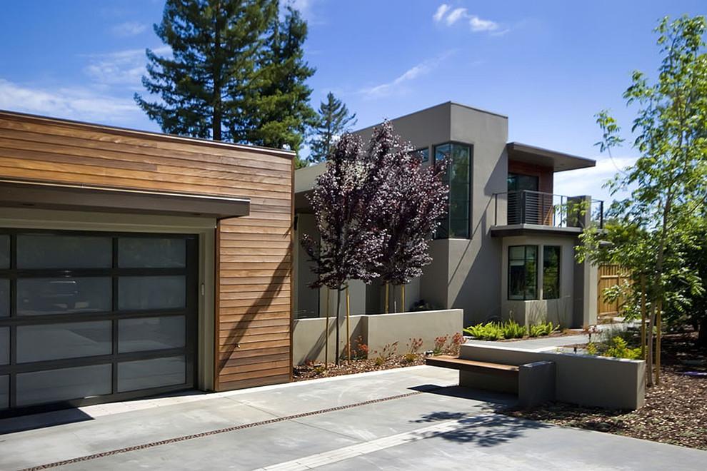 Оформление дома и гаража в современном стиле