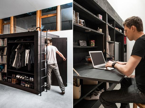 Комната в шкафу и откидное рабочее место