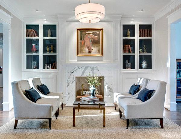 Оригинальный дизайн интерьера небольшой гостиной