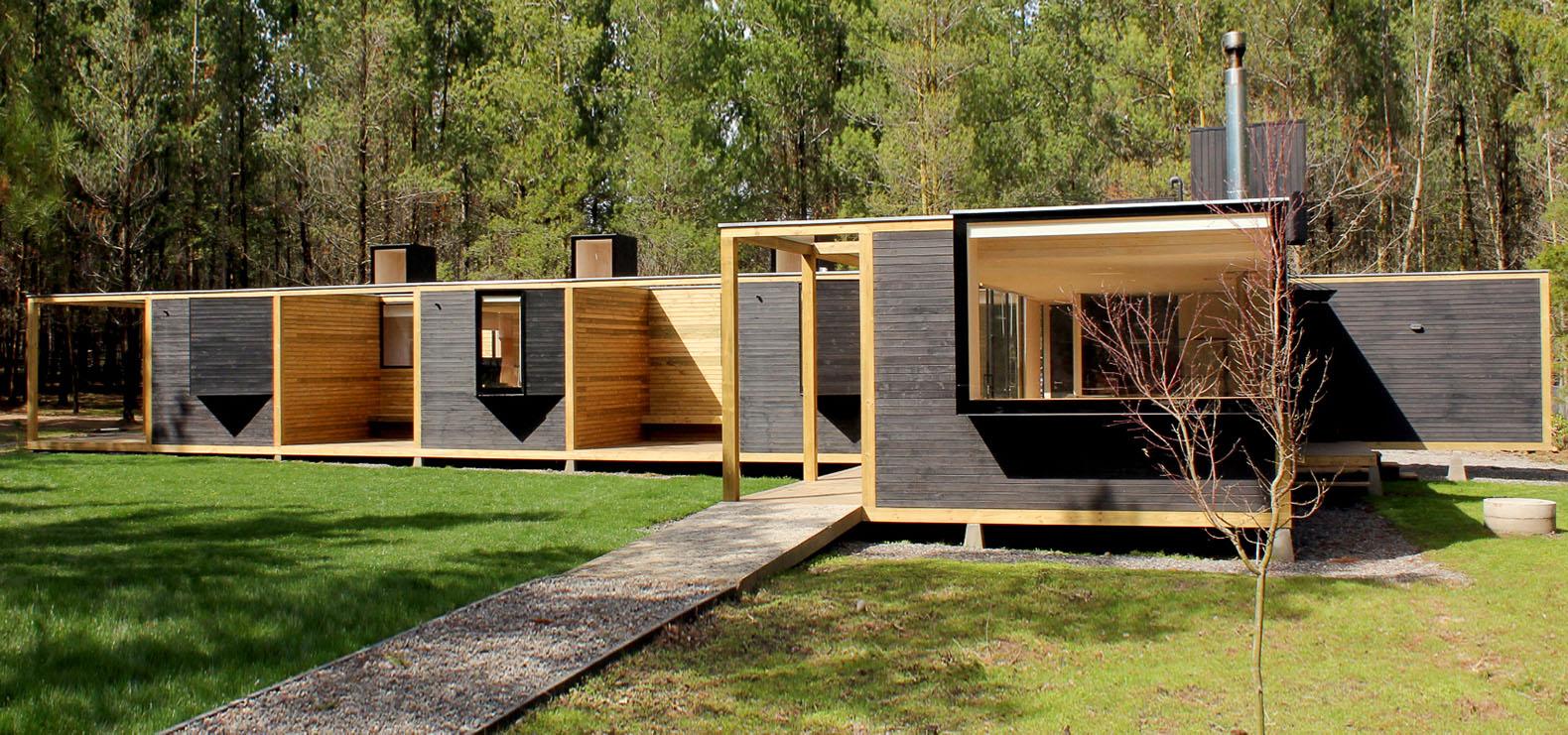 Деревянный модульный дом в Чили