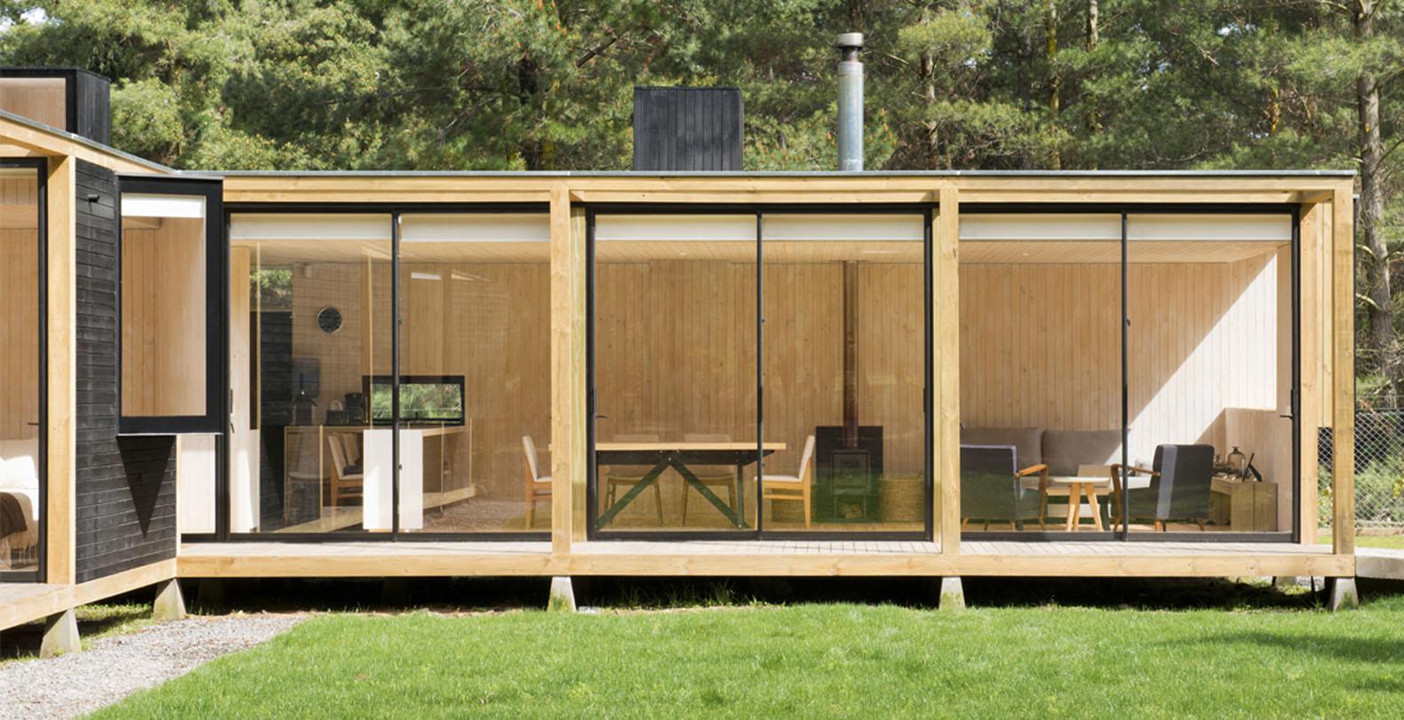 Фасад деревянного модульного дома