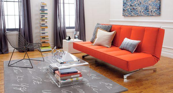 Интерьер стильной маленькой гостиной