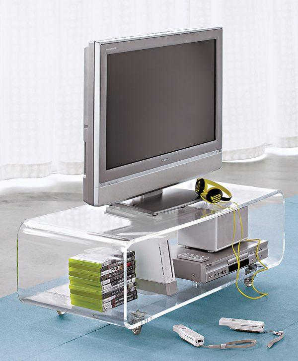 Прозрачная подставка под телевизор