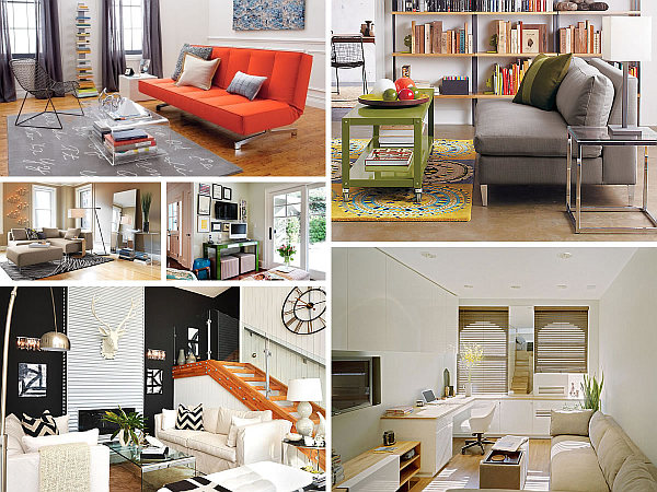 Идеи интерьеров маленьких гостиных