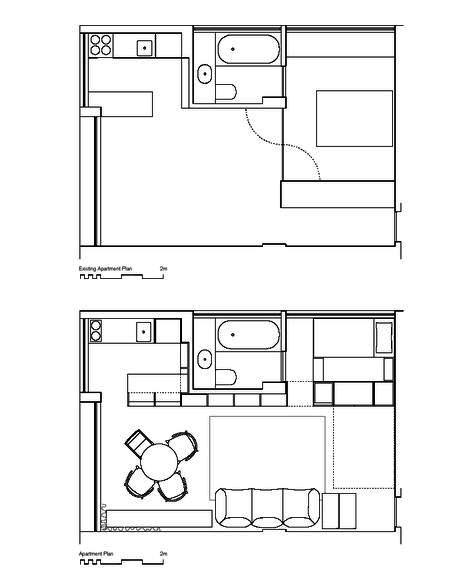 Планировка маленькой квартиры-студии с детской