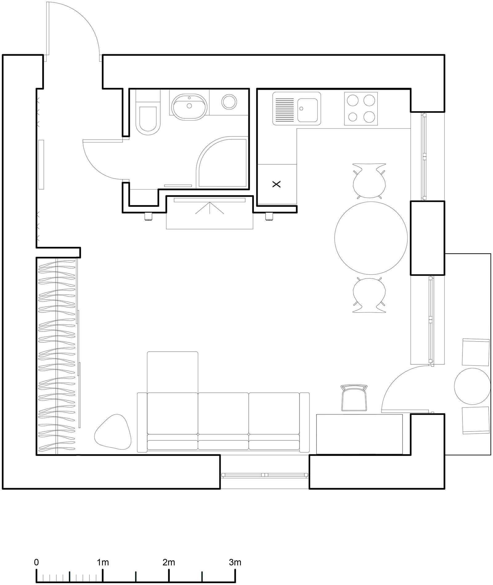 Планировка квартиры-студии в хрущёвке