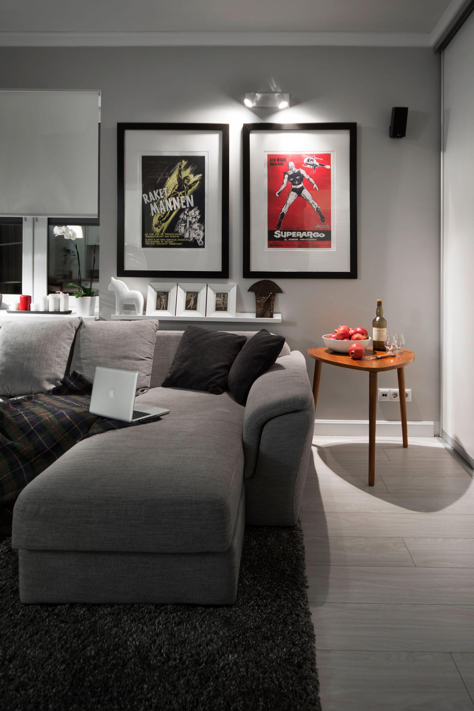 Гостиная квартиры-студии в хрущёвке