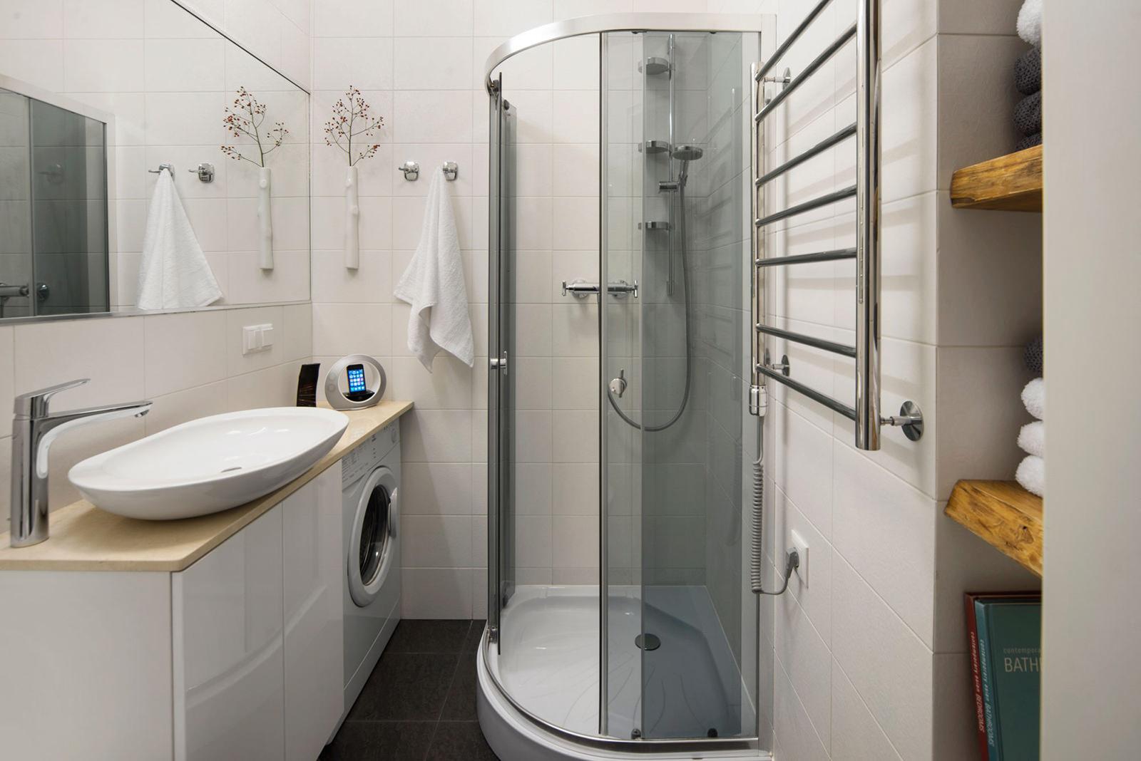 Ванная квартиры-студии в хрущёвке