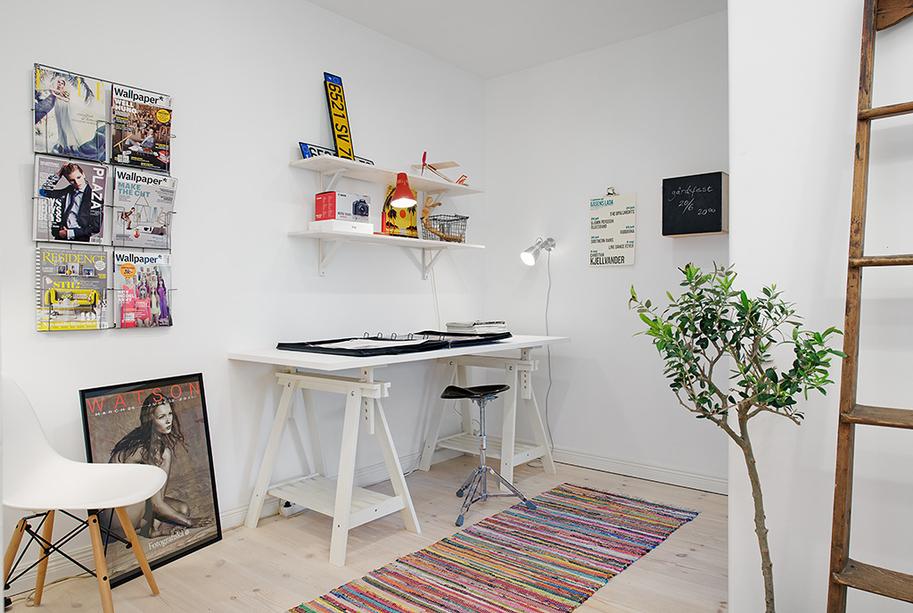 Кабинет однокомнатной квартиры в Гётеборге