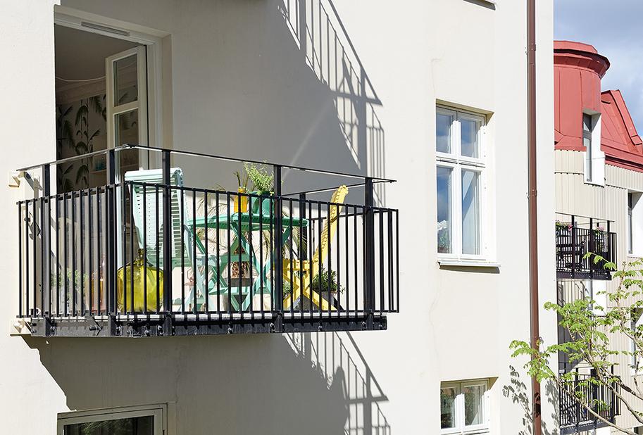 Балкон однокомнатной квартиры в Гётеборге