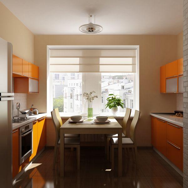 Интерьер кухни в два ряда