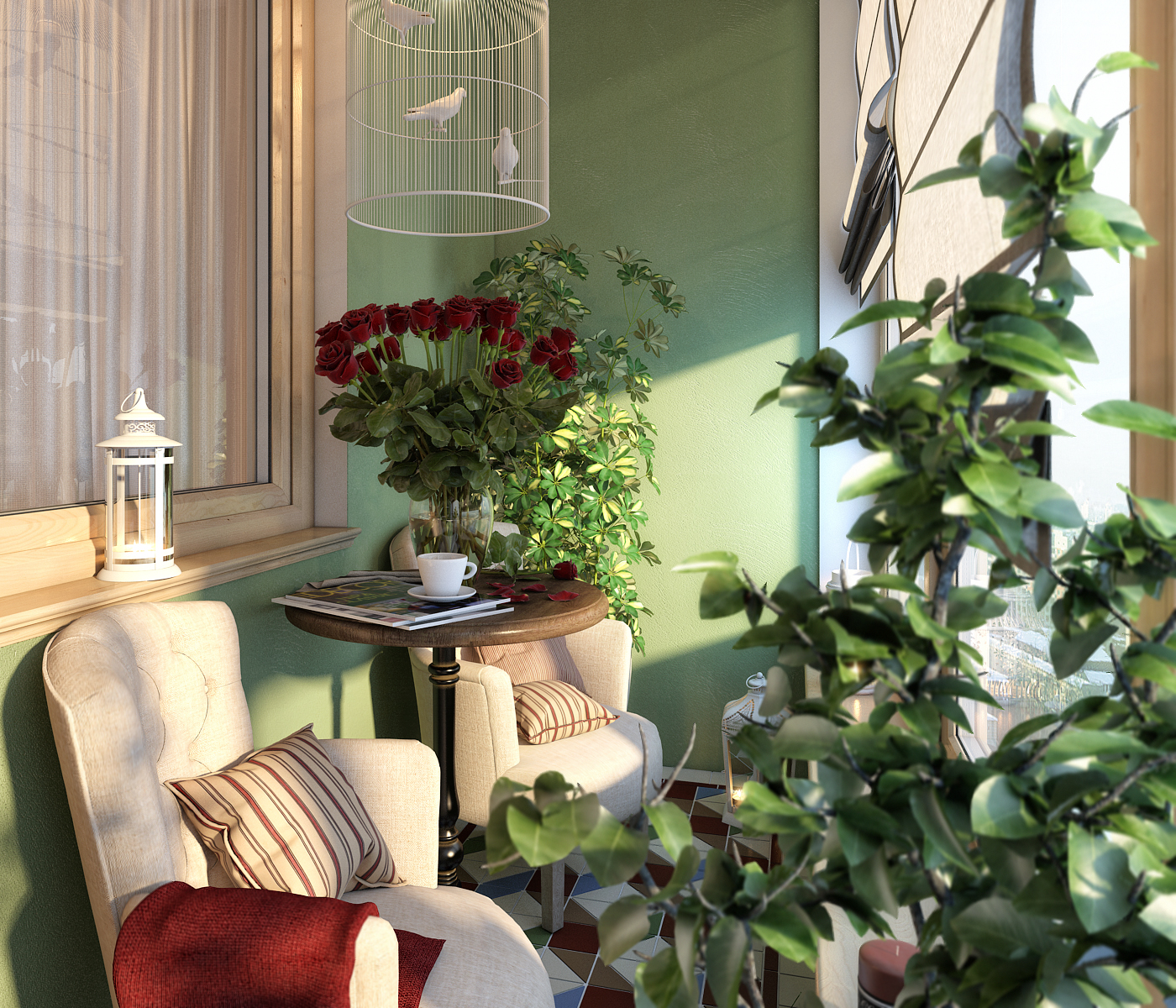Дизайн маленького балкона