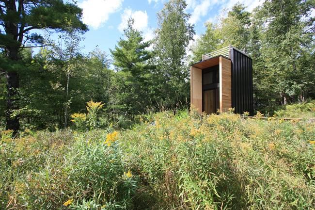 Дизайн дома из контейнеров^ в гармонии природой
