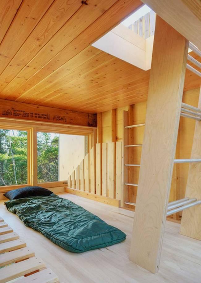 Дизайн дома из контейнеров. Второй этаж, где можно очень уютно расположиться