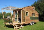 Так выглядит дизайн дома на колёсах снаружи