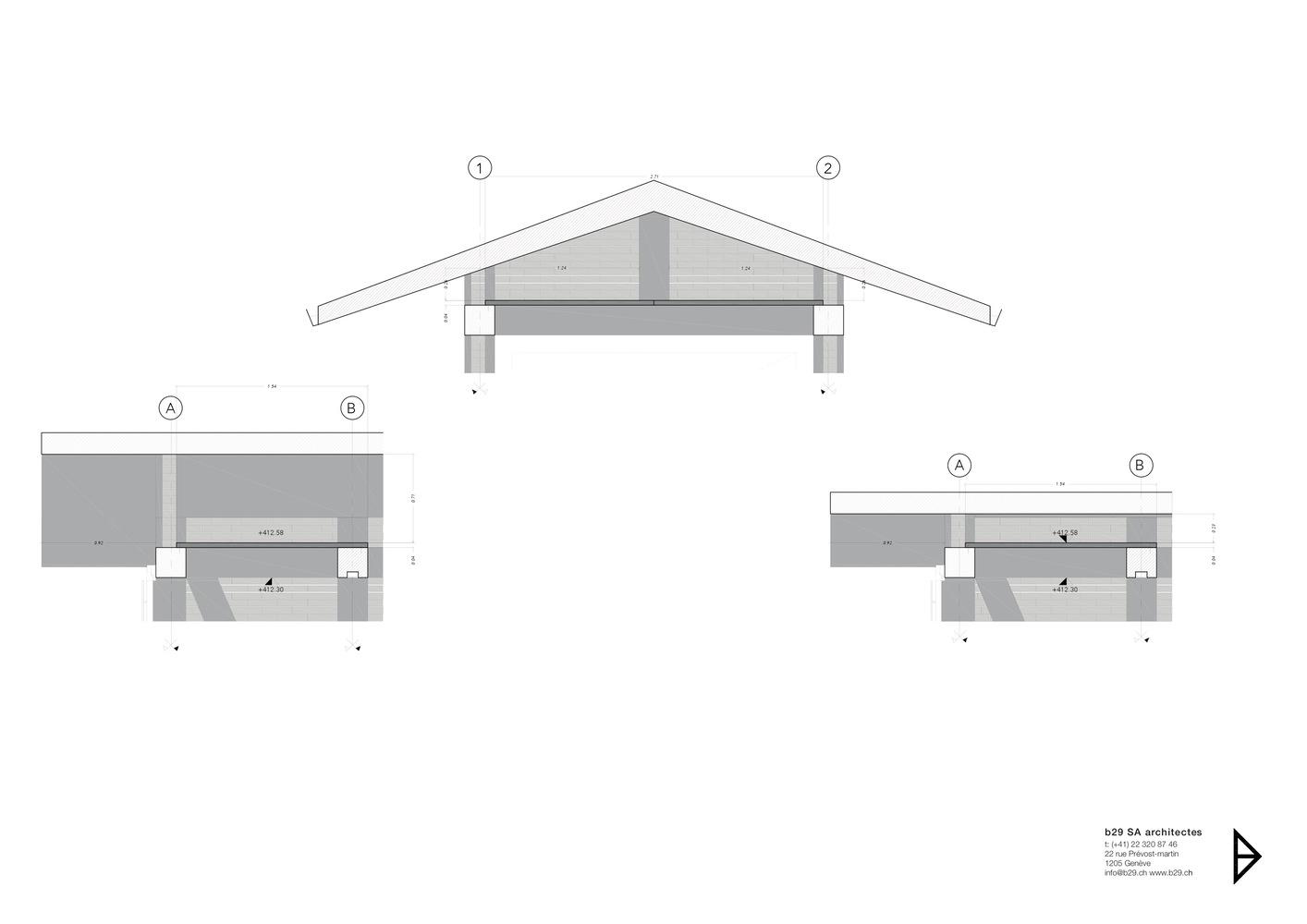 Схема креплений гаража с навесом