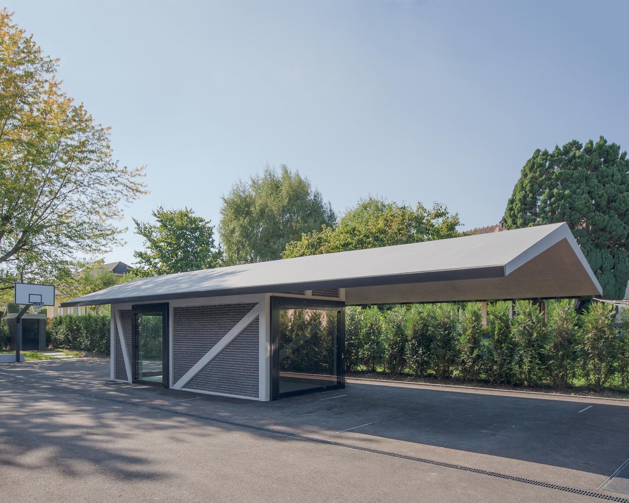 Дизайн гаража с навесом - фото 2