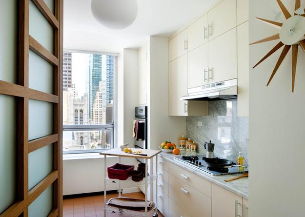 Кухонный гарнитур во всю стену
