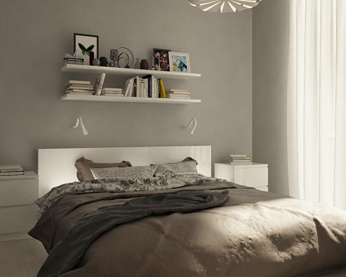 Роскошный дизайн двухкомнатной квартиры площадью 48 квадратных метров