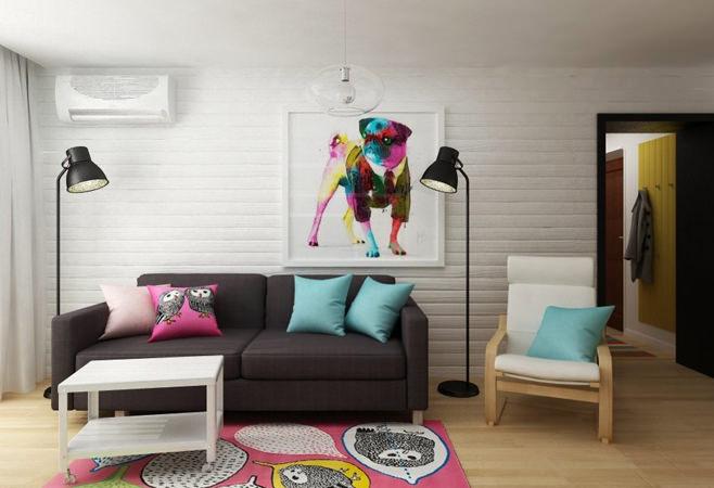 Необычный дизайн квартиры площадью 40 <em>интерьер для маленьких квартир фото</em> квадратных метров