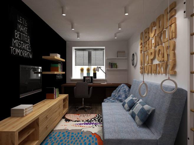 Необычный дизайн квартиры площадью 40 квадратных метров