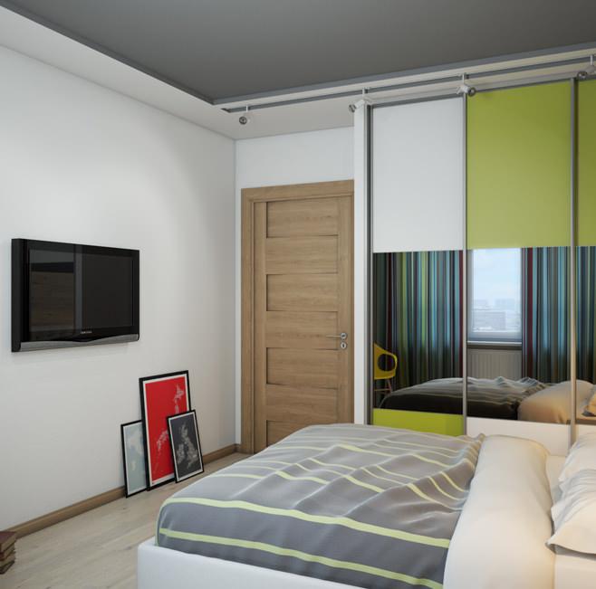 Дизайн просторной двухкомнатной квартиры площадью 87 квадратных метров