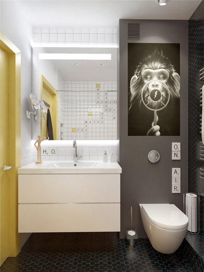 Яркий дизайн квартиры площадью 45 квадратных метров